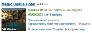 Magic Castle Hotel on TripAdvisor - Reknown Travel Marketing
