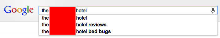 Google Search Bedbugs - Reknown Travel Marketing