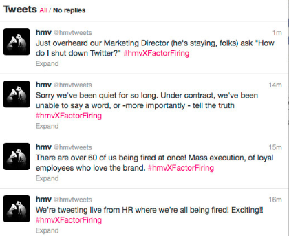 Live tweeting of mass firing - Reknown Travel Marketing