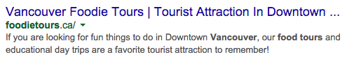 Vancouver Foodie Tours on Google - Reknown Marketing