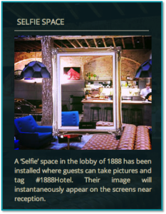 Selfie Space - Hotel 1888 Sydney - Reknown Marketing