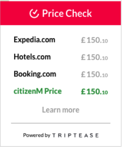 Price Check on citizenM Hotels - Reknown Travel Marketing