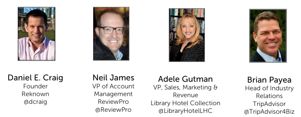 TripAdvisor for Hotels Webinar Panelists - Reknown Travel Marketing