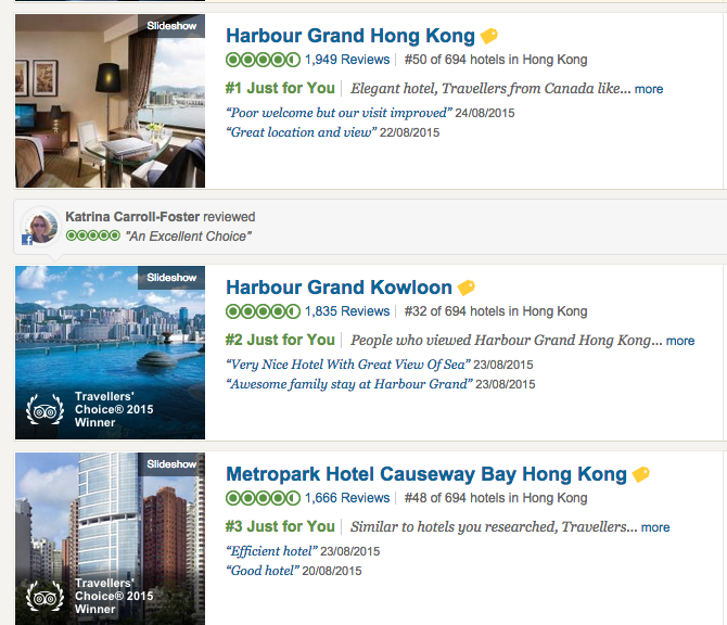 TripAdvisor Just For You Filter - Reknown Travel Marketing