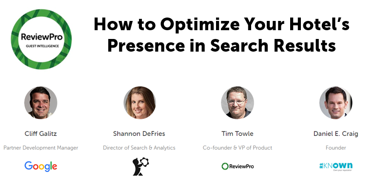 ReviewPro Google Webinar - Reknown Hotel Marketing